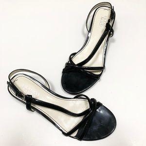 Franco Sarto Kitten Heel Strappy Sandals 8